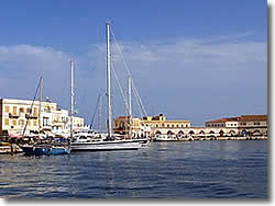 Syros island the Ermoupolis port
